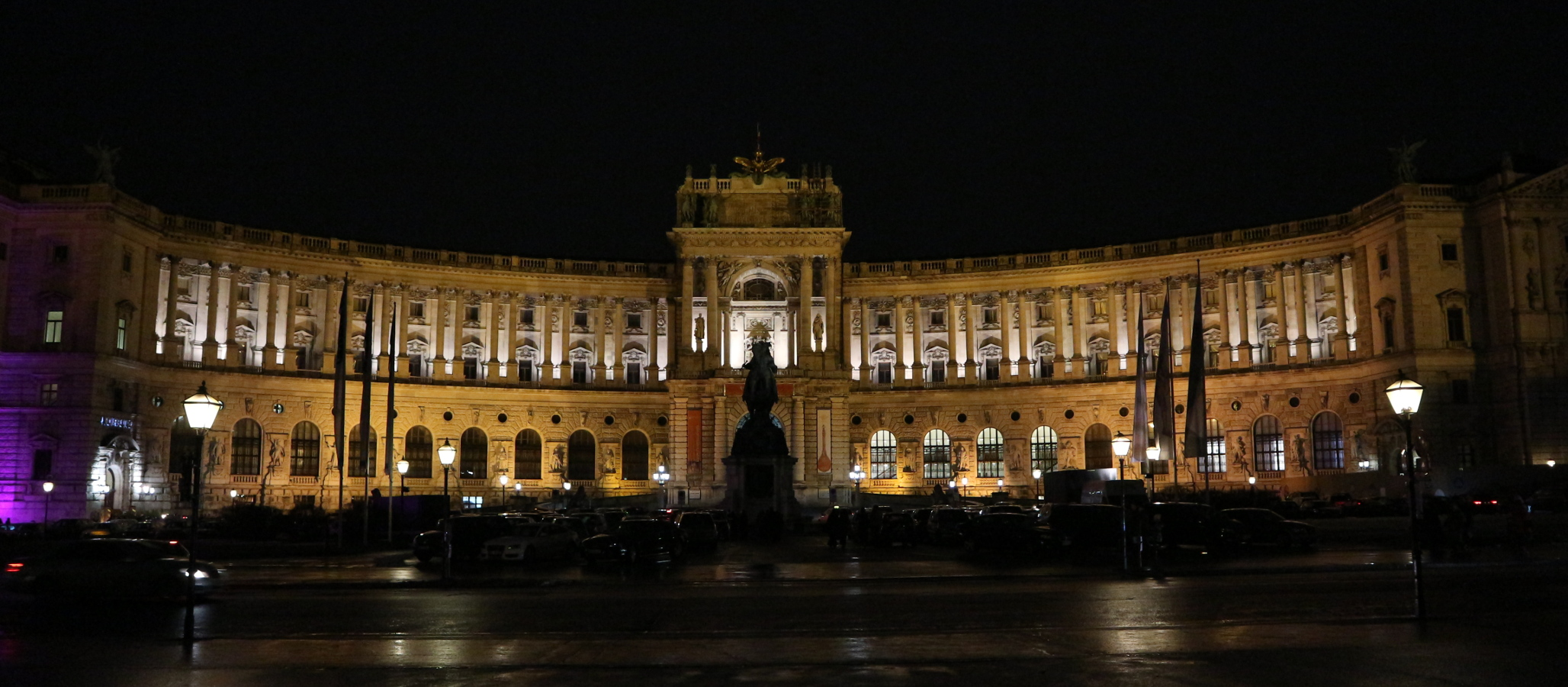 The Neue Burg (a newer wing attached to the Hofburg).
