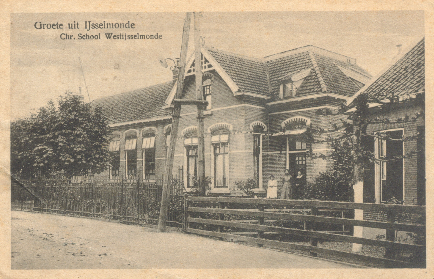 The (former) Prinses Juliana School along the Hordijk. Source: Stadsarchief Rotterdam.